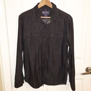 American Rag black pearl snap button down